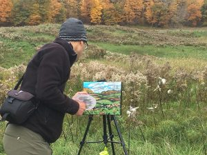 Mark Patton Painting in Plein Air
